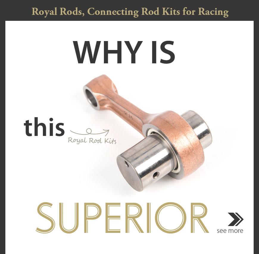 KiWAV Royal Rods RY-2228 connecting rod for Yamaha YBR250 '07-'11