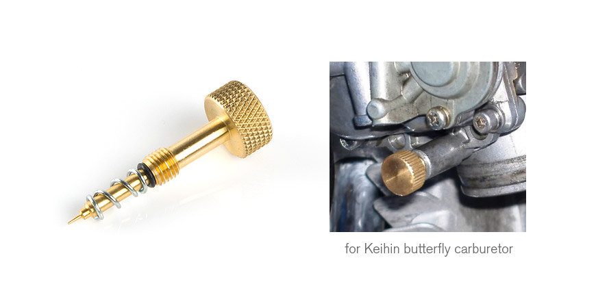 idle mixture screw for early Harley with Keihin butterfly carb