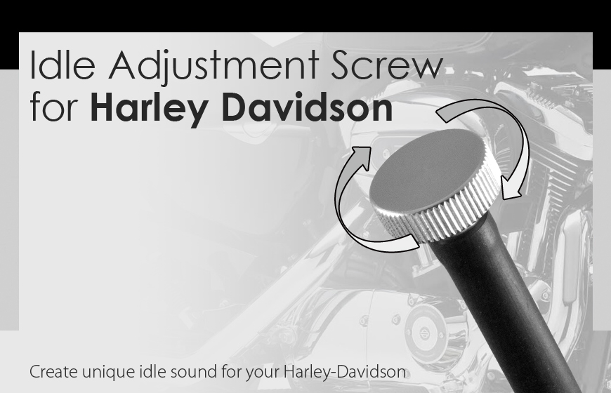 extend idle speed adjustment screw for Harley Davidson