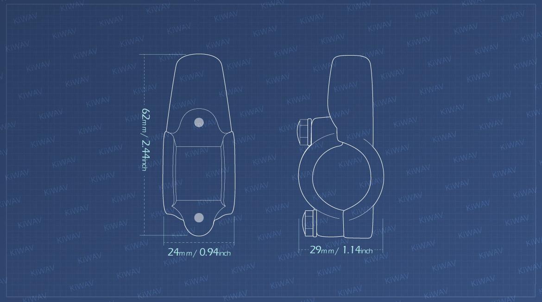 KiWAV measurement graph of 10mm mirror mount on 7/8 inch handlebar
