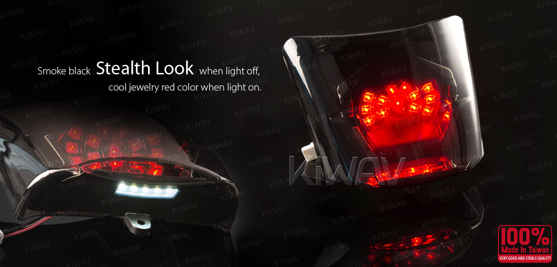 KiWAV 2320 LED tail lamp smoke black lens for Vespa GTS GTV 06~14