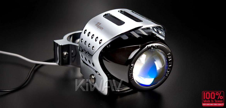 Magazi Round fisheye chrome fog auxiliary light