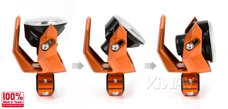 Magazi NS-41 round fog auxiliary light orange