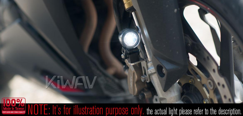 KiWAV Magazi Explorer CNC aluminum anodized gold auxiliary LED light