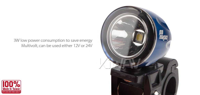 KiWAV Magazi Explorer CNC aluminum anodized blue auxiliary LED light