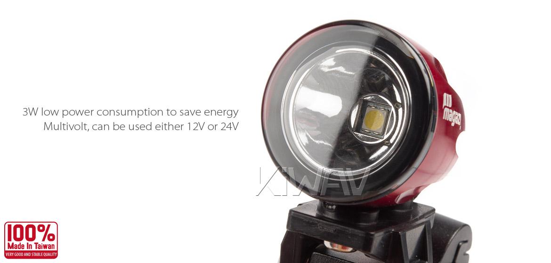 KiWAV Magazi Explorer CNC aluminum anodized red auxiliary LED light
