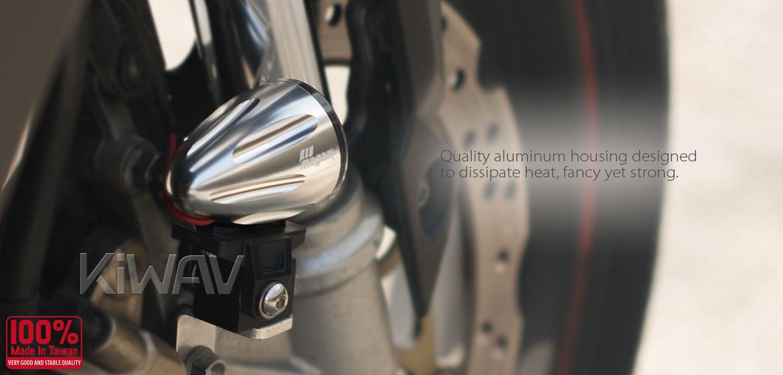 KiWAV Magazi Explorer CNC aluminum anodized silver auxiliary LED light