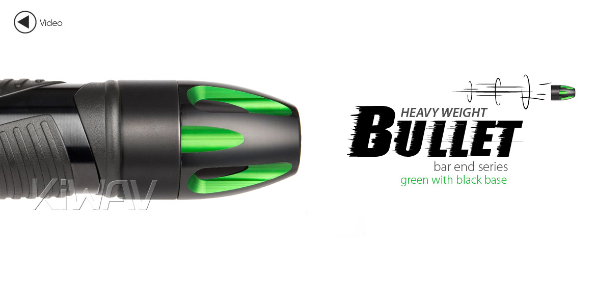 KiWAV bar ends Tower green with black base fit 7/8 inch 1 inch hollow handlebar Magazi