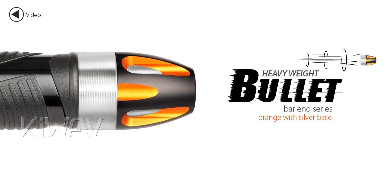 KiWAV bar ends Tower orange with silver base fit 7/8 inch 1 inch hollow handlebar Magazi