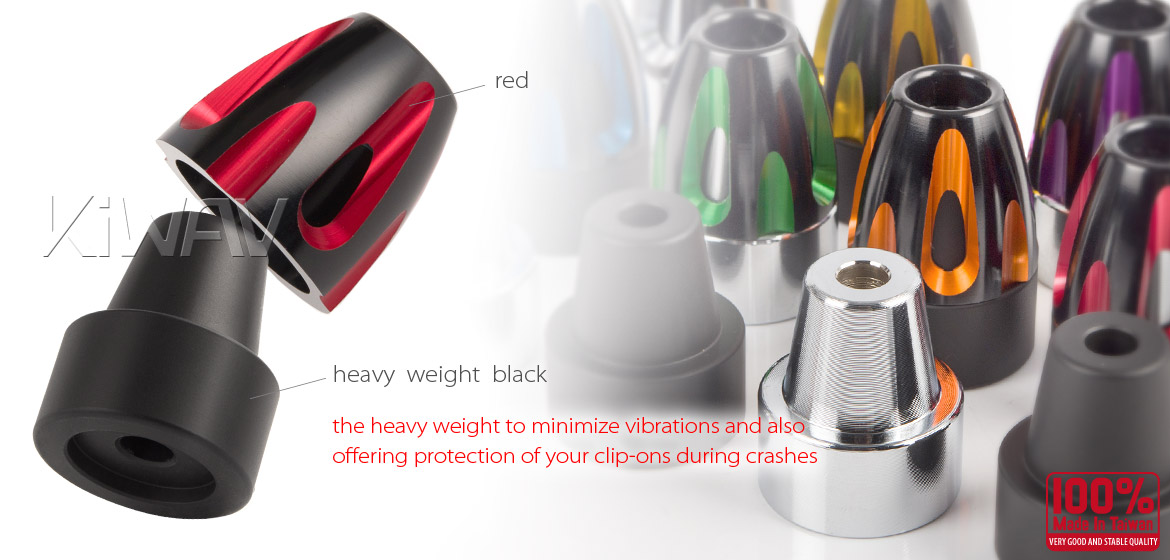 KiWAV bar ends Tower red with black base fit 7/8 inch 1 inch hollow handlebar Magazi