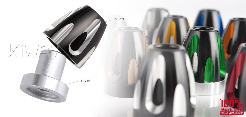 KiWAV bar ends Tower silver with silver base fit 7/8 inch 1 inch hollow handlebar Magazi