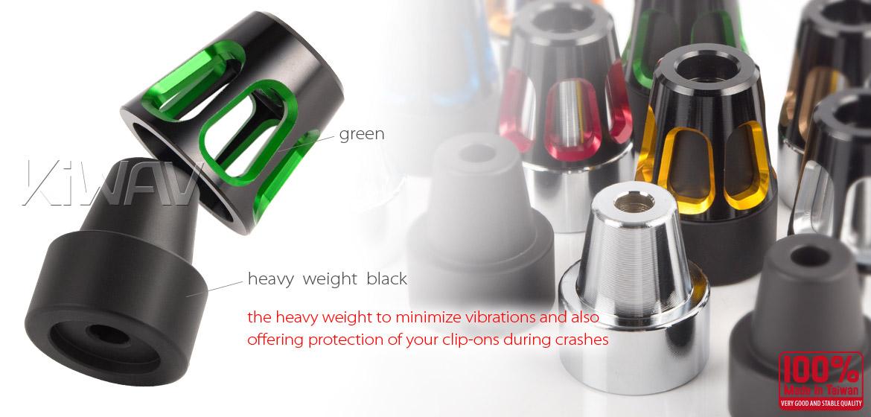 KiWAV bar ends Tower green with black base fit 7/8 inch 1 inch hollow handlebar Magazi