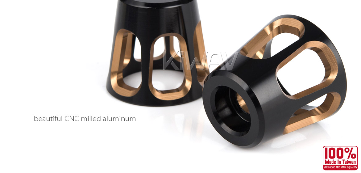 KiWAV bar ends Tower titanium gold with black base fit 7/8 inch 1 inch hollow handlebar Magazi