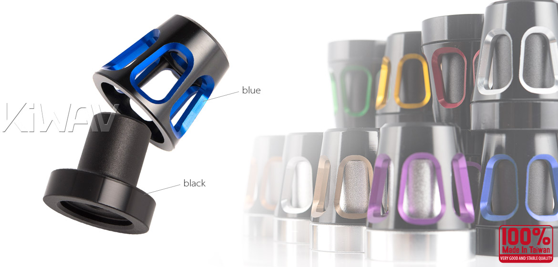 KiWAV bar ends Tower blue with black base fit 7/8 inch 1 inch hollow handlebar Magazi