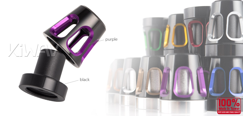 KiWAV bar ends Tower purple with black base fit 7/8 inch 1 inch hollow handlebar Magazi