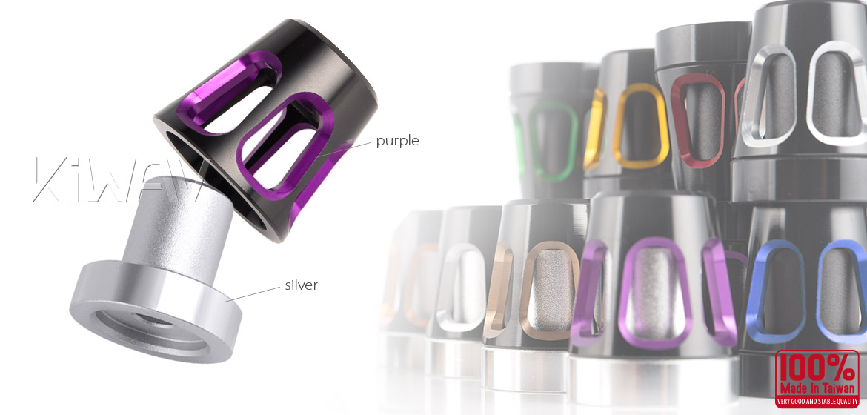 KiWAV bar ends Tower purple with silver base fit 7/8 inch 1 inch hollow handlebar Magazi