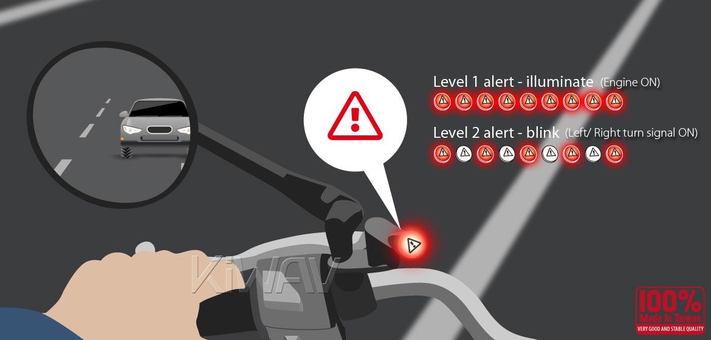 KiWAV motorcycle BSD system with LED indicators for most Harley Davidson