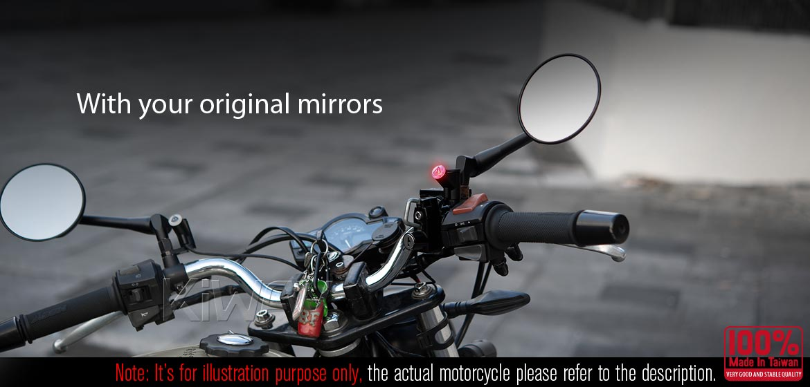 KiWAV motorcycle BSD system with LED indicators for most BMW