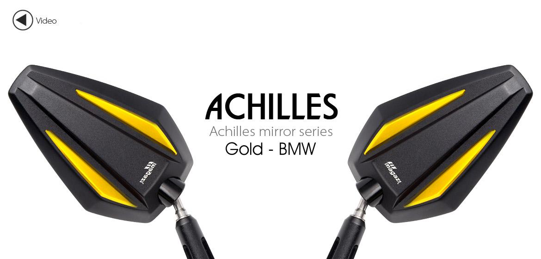 KiWAV Achilles gold motorcycle mirrors fit bmw Magazi