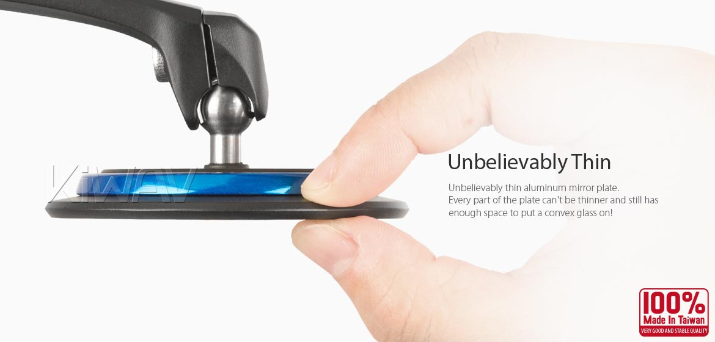 KiWAV motorcycle mirrors Aura blue compatible for most modern Vespa models, GTS/ GTV/ LX/ LT/ LXV/ S