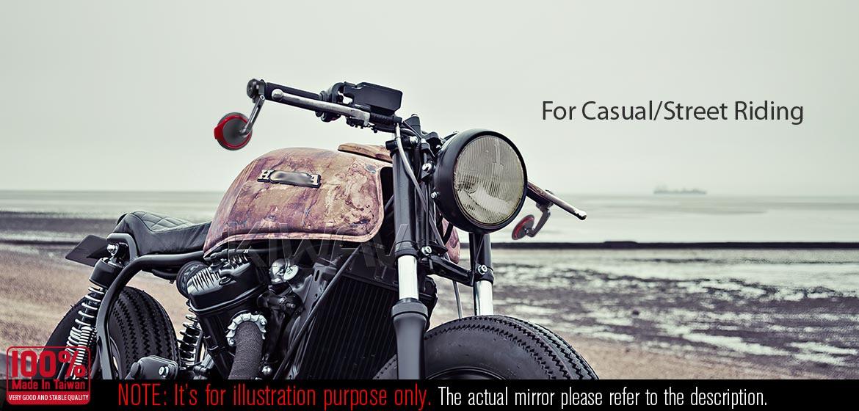 KiWAV motorcycle bar end mirrors Aura black compatible for BMW