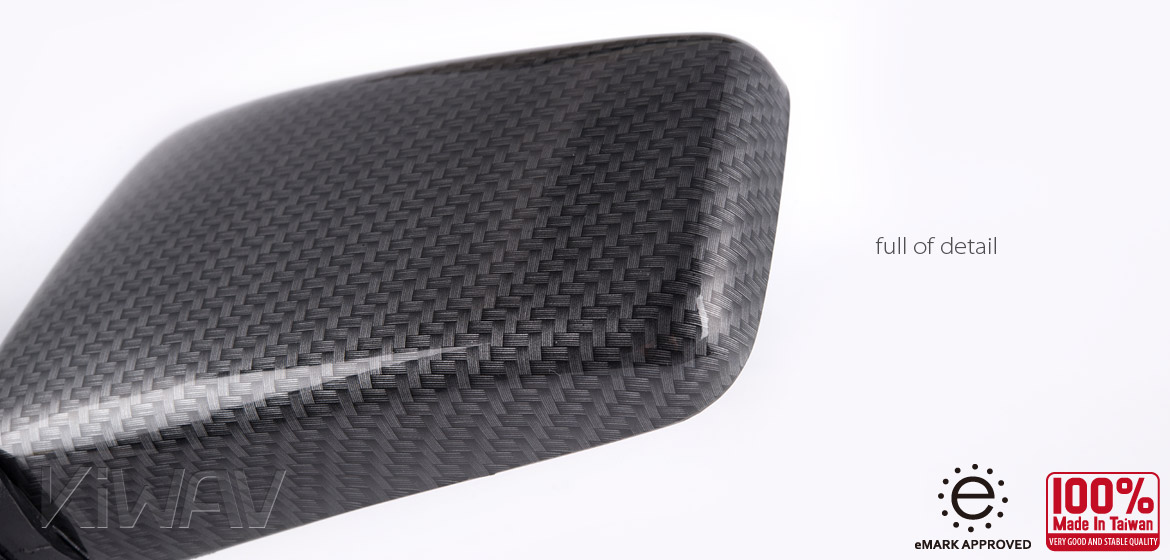 Magazi Brick carbon 8mm mirrors a pair for motorcycle, golf cart
