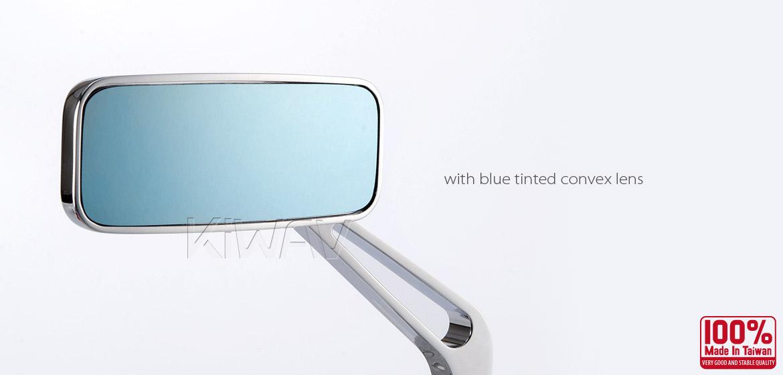 KiWAV Classic chrome motorcycle mirrors fit Halrey street 750 550