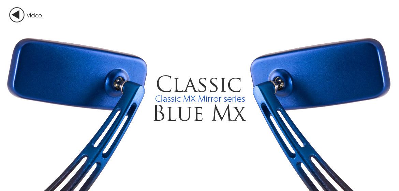 KiWAV Magazi ClassicMX motorcycle mirrors scooters blue