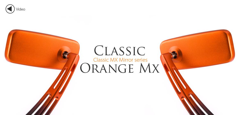 KiWAV Magazi ClassicMX motorcycle mirrors scooters orange