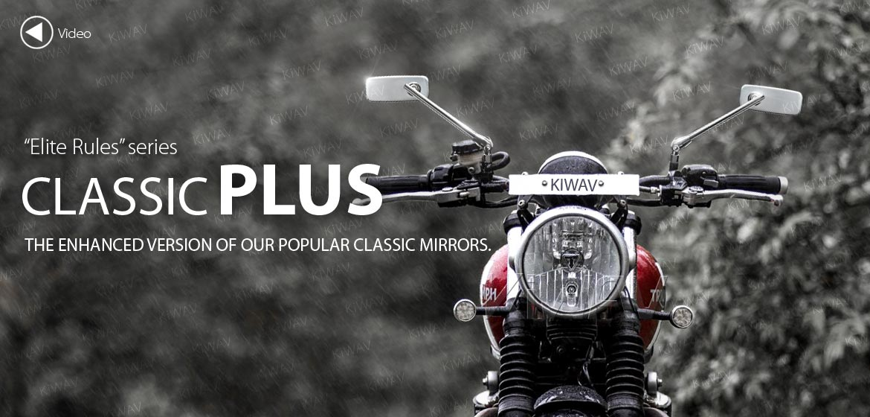 KiWAV motorcycle mirrors ClassicPlus chrome for Harley Street 500 750