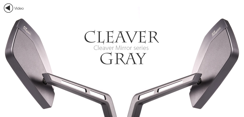 KiWAV Magazi Cleaver CNC aluminum motorcycle mirrors BMW gray