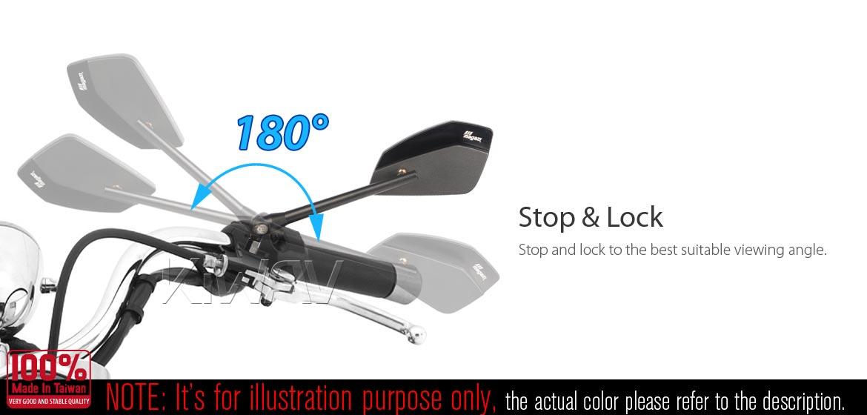 KiWAV motorcycle mirrors CleaverII chrome 10mm for BMW, Magazi