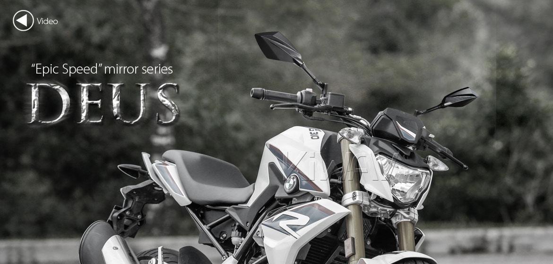 KiWAV motorcycle mirrors Deus carbon for BMW 10mm 1.5 pitch