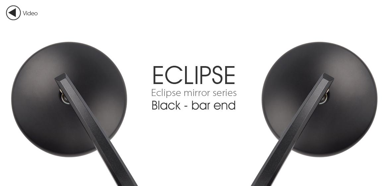 KiWAV bar end mirrors Eclipse black for BMW motorcycles