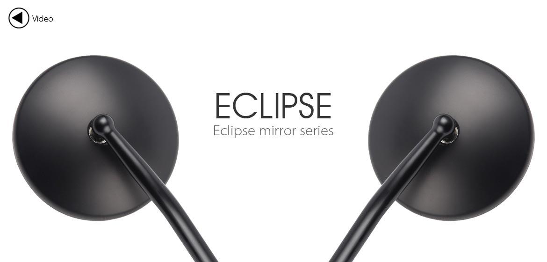 KiWAV Eclipse black motorcycle mirrors fit harley