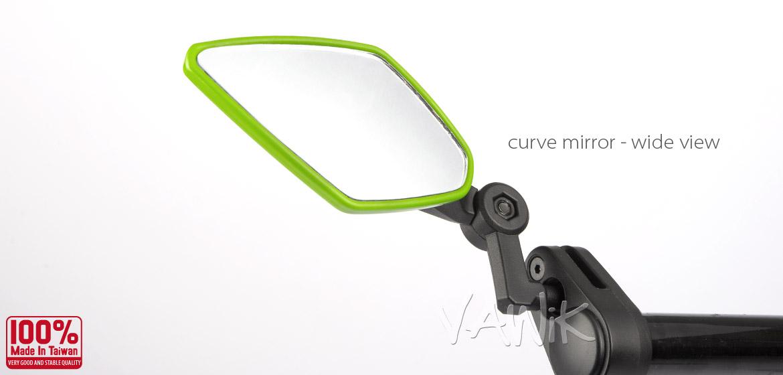 "Magazi bar end mirrors ELF green 7//8/"" handlebar MTB mountain road bike BMX ε"