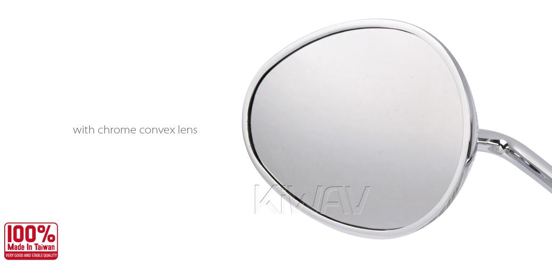 KiWAV motorcycle mirrors Ellipse chrome Harley Magazi