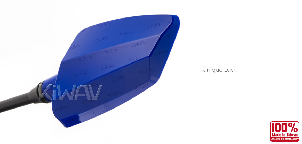 KiWAV Hawk blue motorcycle mirrors scooter fit Magazi