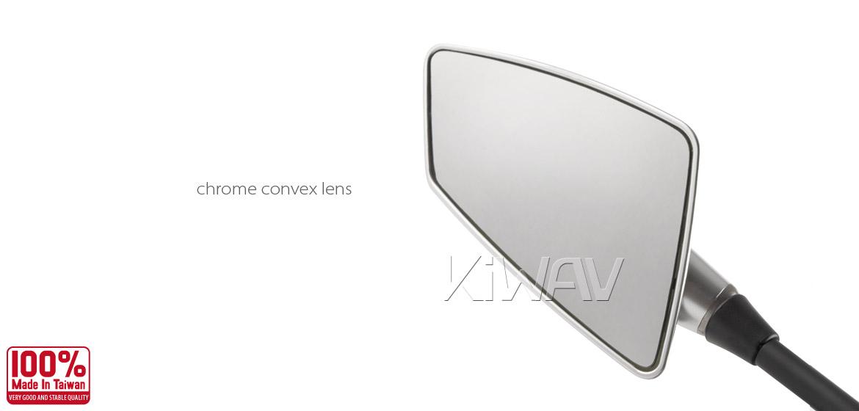 KiWAV Hawk silver motorcycle mirrors scooter fit Magazi