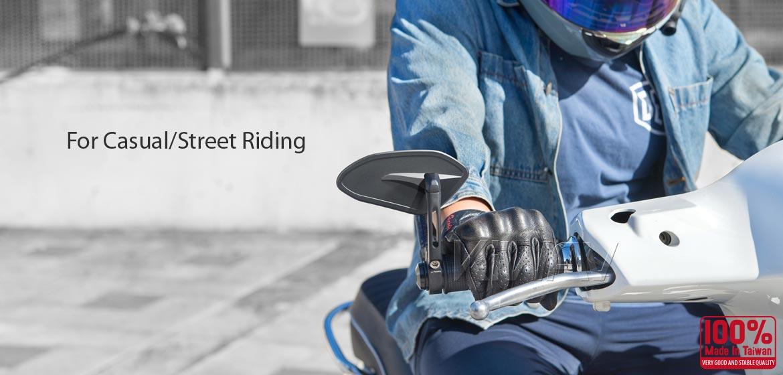 KiWAV motorcycle bar end mirrors Horus black compatible with some Vespa models, GTS/ GTV/ GT