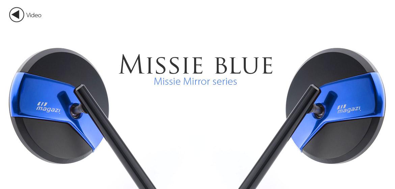 KiWAV Magazi Missie CNC aluminum motorcycle mirrors for BMW blue