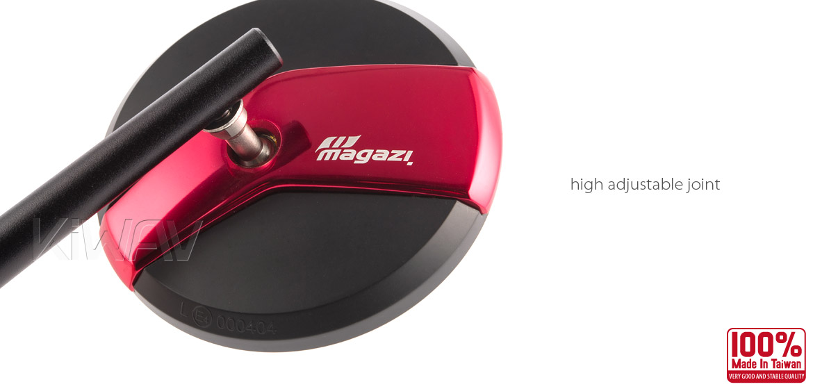 Magazi Missie red matte stem mirrors a pair for BMW motorcycle, golf cart