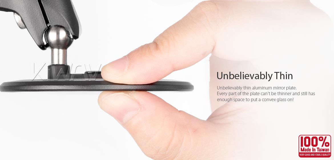 KiWAV motorcycle mirrors Ojo black compatible for most BMW