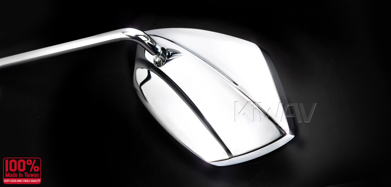KiWAV motorcycle mirrors Palm chrome Harley Magazi