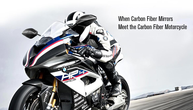 KiWAV motorcycle mirrors Panther 100% carbon fiber for fairing mount sportsbikes