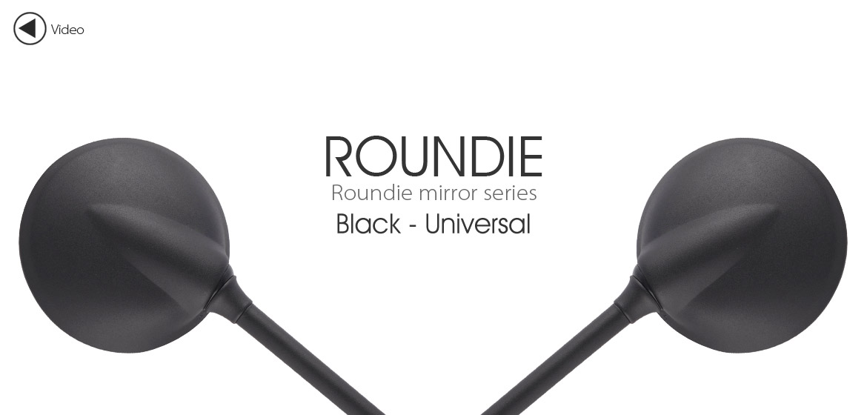 KiWAV Magazi Roundie steel motorcycle mirrors universal black