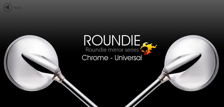 VAWiK Magazi Roundie steel motorcycle mirrors universal chrome