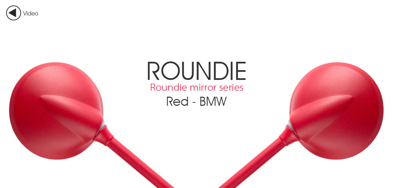KiWAV Magazi Roundie steel motorcycle mirrors for BMW red