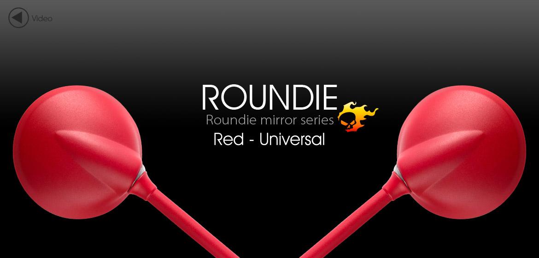 VAWiK Magazi Roundie steel motorcycle mirrors universal red