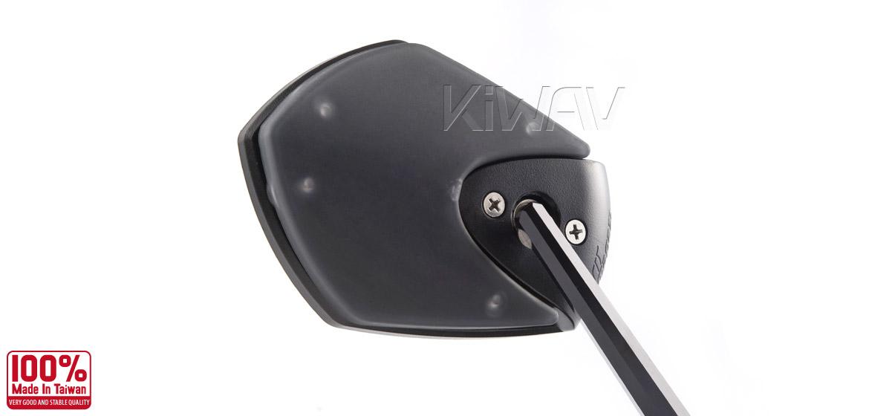 KiWAV Shield black motorcycle mirrors bmw fit Magazi